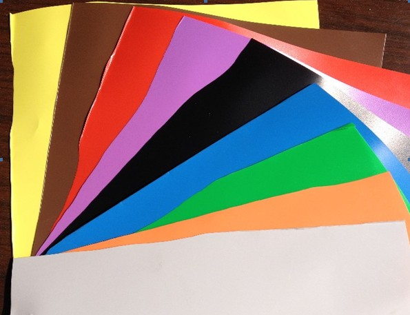 Colorful PVC card materials